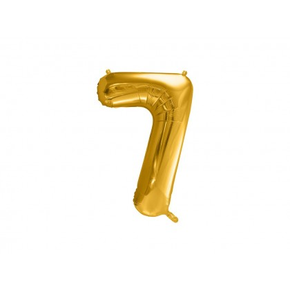 """16"""" Gold Number Balloon - 7"""