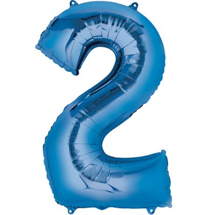 "16"" Blue Number Balloon - 2"