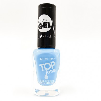 Revers gel effect nail enamel pale blue No.60