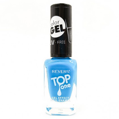Revers gel effect nail enamel bright blue No.79