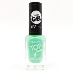 Revers gel effect nail enamel powder green No.58