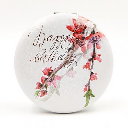 Pocket Mirror Happy Birthday
