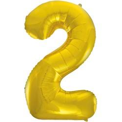 """32"""" Arany szám fólia lufi - 2"""