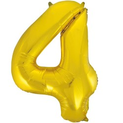 "32"" Gold Number Balloon - 4"