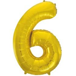 """32"""" Arany szám fólia lufi - 6"""