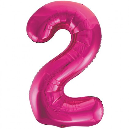 "32"" Pink Number Balloon - 2"