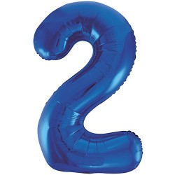 "32"" Blue Number Balloon - 2"