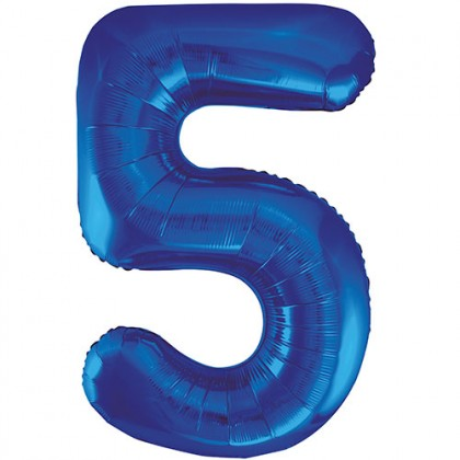 """32"""" Blue Number Balloon - 5"""