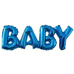 Baby fólia felirat kék színben
