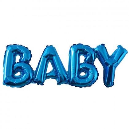 Blue Baby subtitle foil balloon