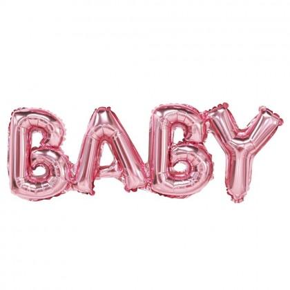 Rózsaszín Baby fólia felirat