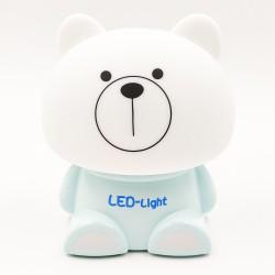 Cute Bear Night Light Sleeping Lamp - Blue