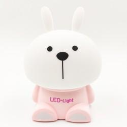 Aranyos Nyuszi LED lámpa, éjjeli fény - rózsaszín színű