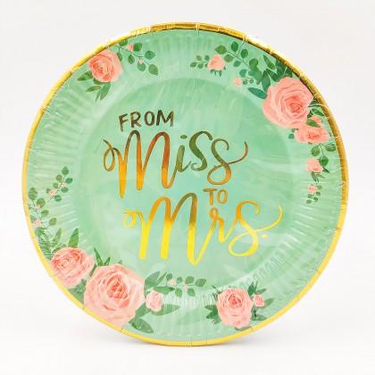 """From Miss to Mrs."" kis tányér"