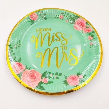 """""""From Miss to Mrs."""" nagy tányér"""