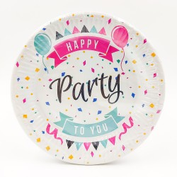 """Happy Party to You"" kis tányér"