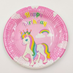 """""""Happy birthday unikornis"""" kicsi tányér"""