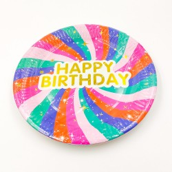 """Happy Birthday"" big paper plate"