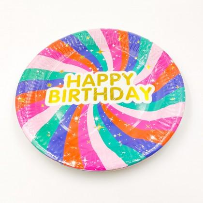 """""""Happy Birthday"""" nagy tányér"""