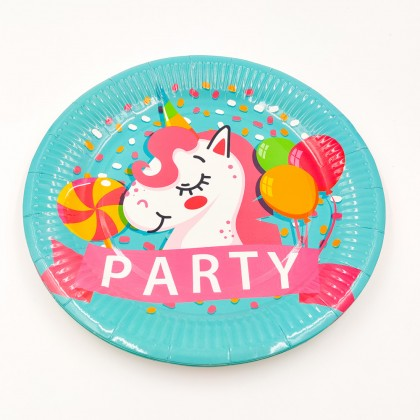 """""""Party Unikornis"""" nagy tányér"""