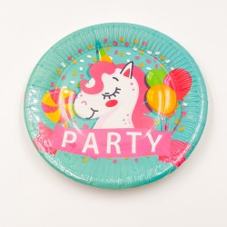 """Party Unicorn"" paper plate"