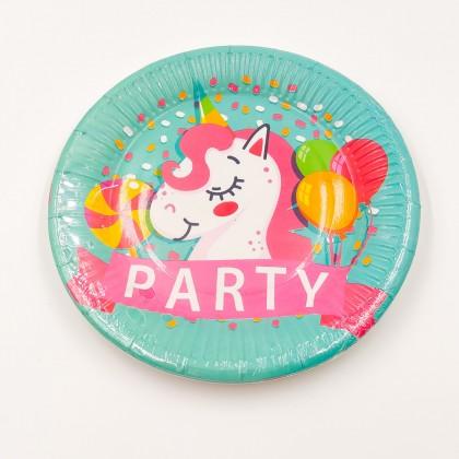 """""""Party Unikornis"""" kicsi tányér"""