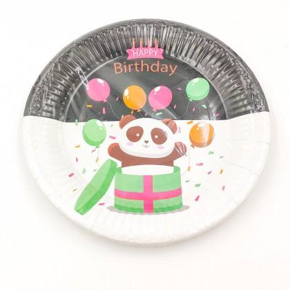 """Happy birthday Panda"" big paper plate"