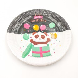 """Happy birthday Panda"" paper plate"