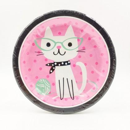 """""""Bohém macska"""" nagy tányér"""