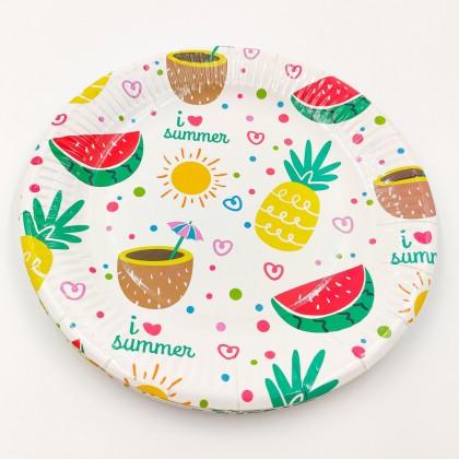 """""""I love summer"""" nagy tányér"""