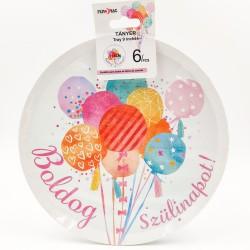 """Boldog Szülinapot!"" big paper plate"