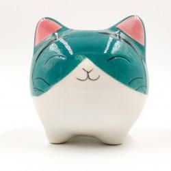 Aranyos türkiz macska persely