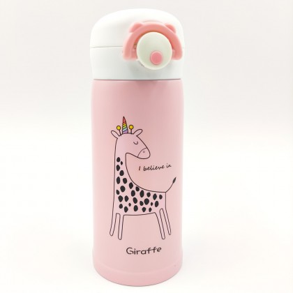 Pink giraffe thermos