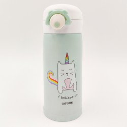 Green caticorn thermos