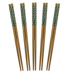 Green sakura chopsticks set