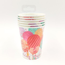 Balloon patterned paper cup 6 pcs