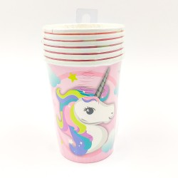 Unicorn pattern paper cup 6 pcs