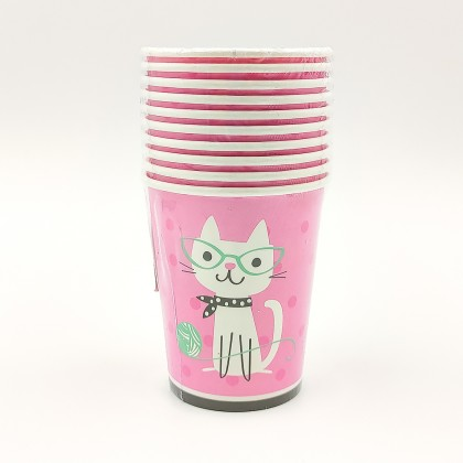 Balloon patterned paper cup 6pcs