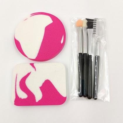 My Beauty Tools mini makeup sponge and brush set (cyclamen)