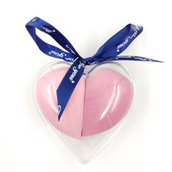 Makeup sponge in heart-shaped box with bow(pink)