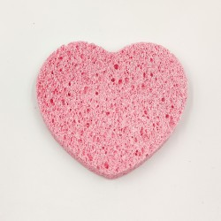 Rose Cosmetics Face Wash Sponge (pink, heart-shaped)