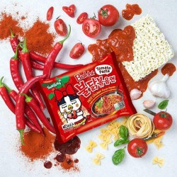 5 pcs Samyang Tomato Spicy Chicken Roasted Noodles Pack