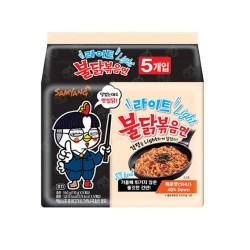 5 db-os Samyang Light csípős és fűszeres instant tészta