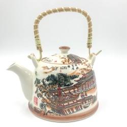 Keleti porcelán teáskanna szűrővel