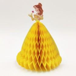 Party asztali dekoráció hercegnős sárga