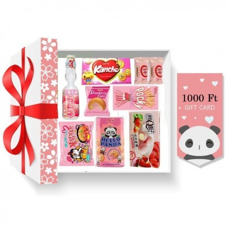 Rózsaszín karácsonyi ajándékcsomag