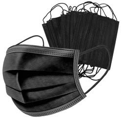 10 db fekete 3 rétegű védőmaszk