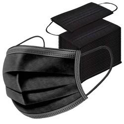 50 pcs Black Disposable 3 layers Face Mask