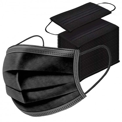10 pcs Black Disposable 3 layers Face Mask