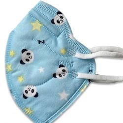 10 db gyerek kék pandás KN95 védőmaszk
